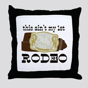 My 1st Rodeo Throw Pillow