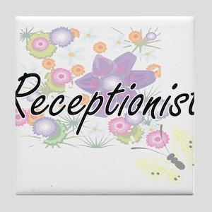 Receptionist Artistic Job Design with Tile Coaster