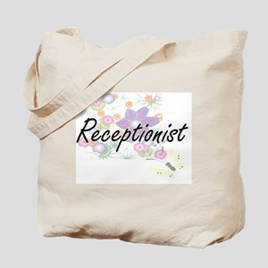 Receptionist Artistic Job Design with Flo Tote Bag