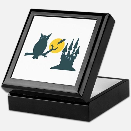 Owl Silhouette Keepsake Box