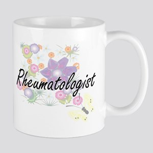 Rheumatologist Artistic Job Design with Flowe Mugs