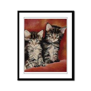 Maine Coon Kittens Framed Panel Print