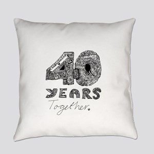 40 years together Everyday Pillow
