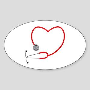 Heart Stethescope Sticker
