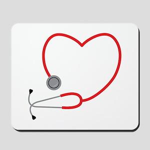 Heart Stethescope Mousepad