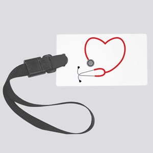 Heart Stethescope Luggage Tag