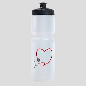 Heart Stethescope Sports Bottle