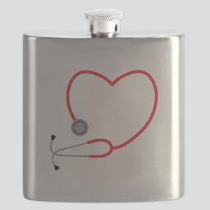 Heart Stethescope Flask