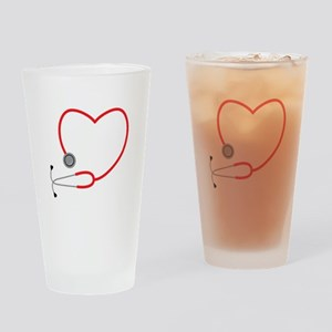 Heart Stethescope Drinking Glass