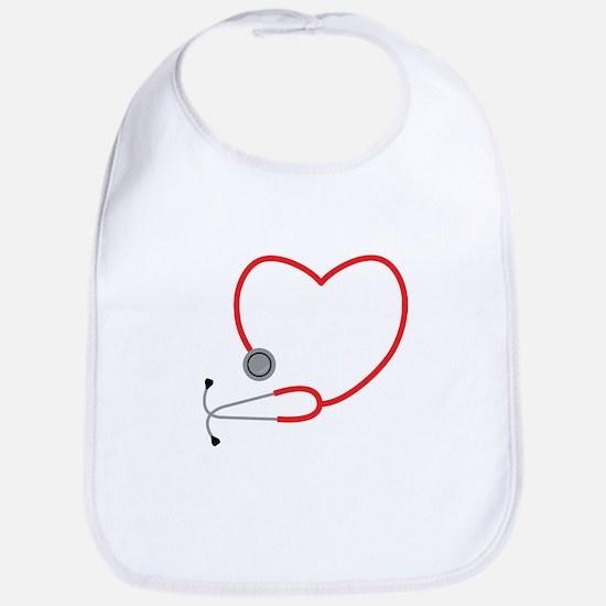 Heart Stethescope Bib