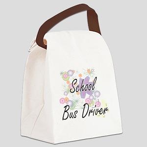 School Bus Driver Artistic Job De Canvas Lunch Bag