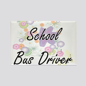 School Bus Driver Artistic Job Design with Magnets