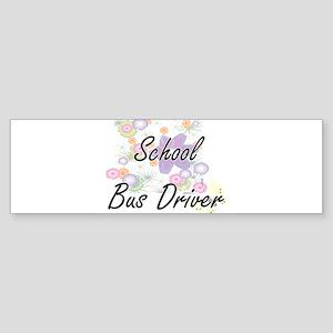 School Bus Driver Artistic Job Desi Bumper Sticker