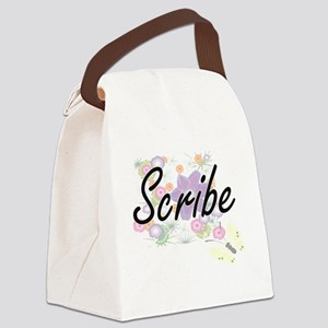 Scribe Artistic Job Design with F Canvas Lunch Bag