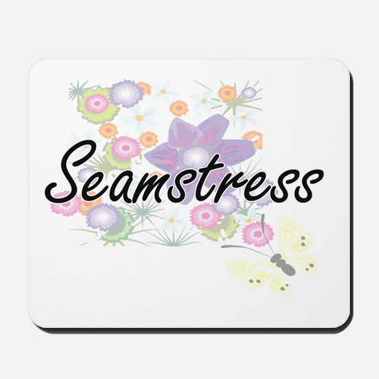Seamstress Artistic Job Design with Flow Mousepad