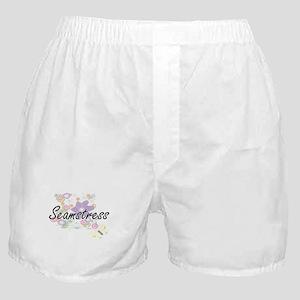 Seamstress Artistic Job Design with F Boxer Shorts