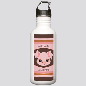 Personalized Name Pig Stainless Water Bottle 1.0L