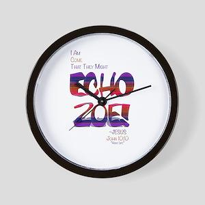 Echo Zoe by Tasha Dillon Wall Clock