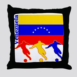 Venezuela Soccer Throw Pillow
