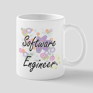 Software Engineer Artistic Job Design with Fl Mugs