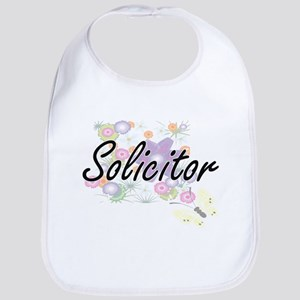 Solicitor Artistic Job Design with Flowers Bib