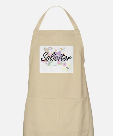 Solicitor Artistic Job Design with Flowers Apron