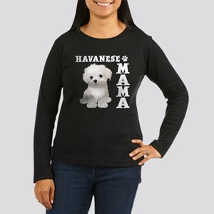 HAVANESE MAMA Women's Long Sleeve Dark T-Shirt