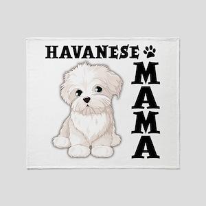 HAVANESE MAMA Throw Blanket