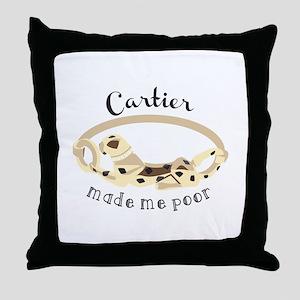 Cartier Bracelet Throw Pillow