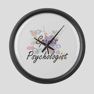 Sports Psychologist Artistic Job Large Wall Clock