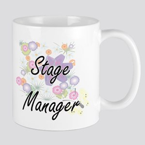 Stage Manager Artistic Job Design with Flower Mugs
