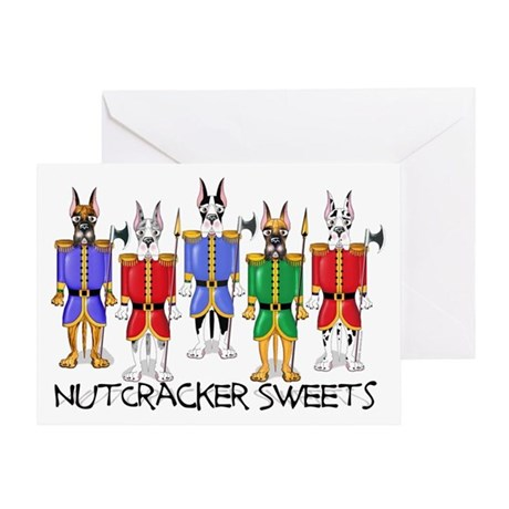 Great Dane Nut Crackers Greeting Card