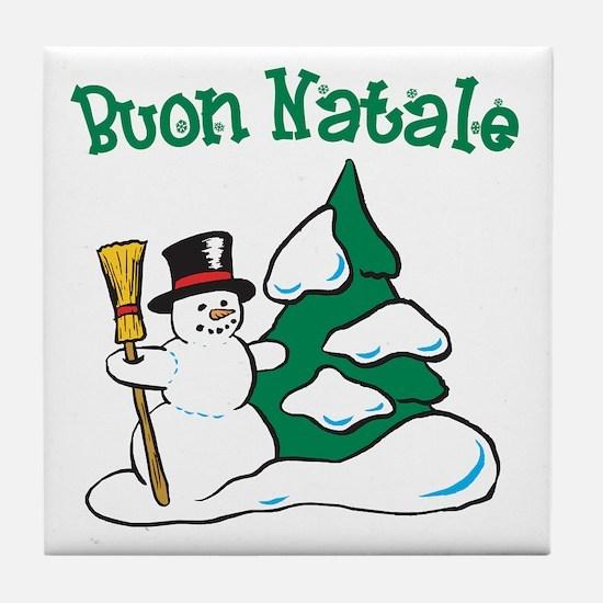 Buon Natale Tile Coaster