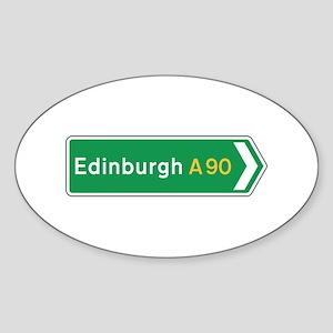 Edinburgh Roadmarker, UK Oval Sticker