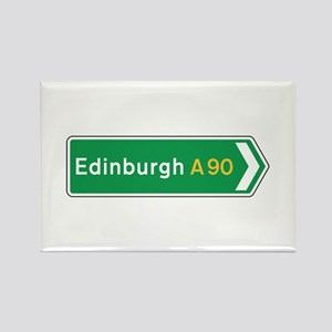 Edinburgh Roadmarker, UK Rectangle Magnet