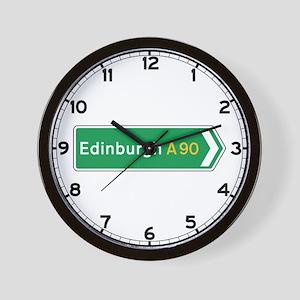 Edinburgh Roadmarker, UK Wall Clock