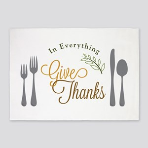 Thanks In Everything 5'x7'Area Rug