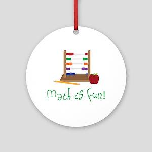 Math Is Fun Round Ornament
