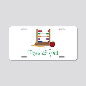 Math Is Fun Aluminum License Plate