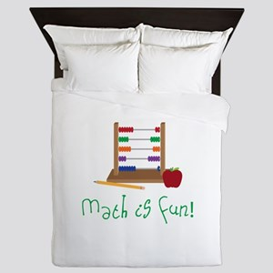 Math Is Fun Queen Duvet
