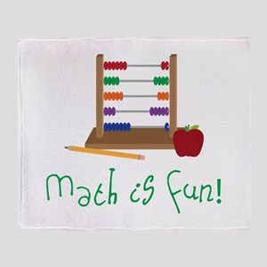 Math Is Fun Throw Blanket