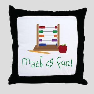 Math Is Fun Throw Pillow