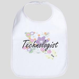 Technologist Artistic Job Design with Flowers Bib