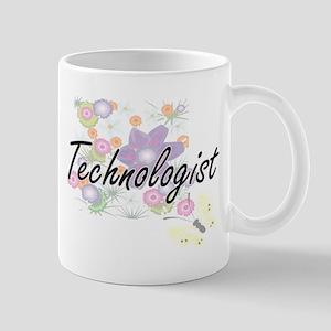 Technologist Artistic Job Design with Flowers Mugs