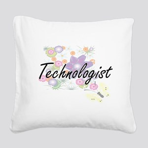 Technologist Artistic Job Des Square Canvas Pillow