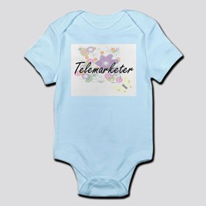 Telemarketer Artistic Job Design with Fl Body Suit