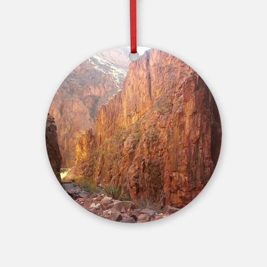 South Rim Grand Canyon National Par Round Ornament