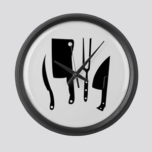 Butcher Knives Large Wall Clock