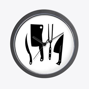 Butcher Knives Wall Clock