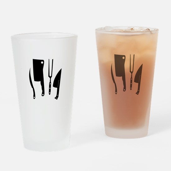 Butcher Knives Drinking Glass